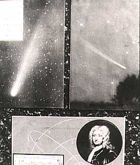 [The picture postcards of Halley's Comet found in storage]